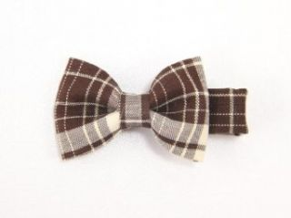 Elegant Plaid Bow   Baby Girl & Toddler Hair Clip   Brown
