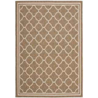 Poolside Brown/ Bone Indoor Outdoor Rug (9 x 12)