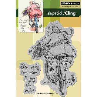 Penny Black Enjoy The Ride Cling Rubber Stamp