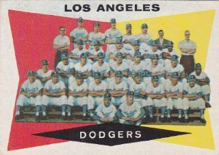 Los Angeles Dodgers 1960 Topps Baseball Team Card (Gil