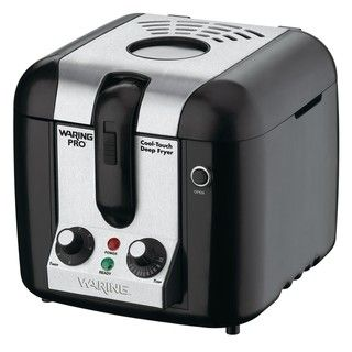 Waring WPF100BPC Pro Black Cool Touch Deep Fryer