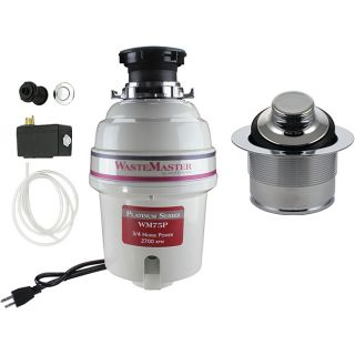 WasteMaster 3/4 HP Garbage Disposal with Chrome Air Switch Kit