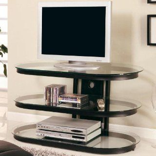 Coaster Black Contemporary Metal and Glass Media Console