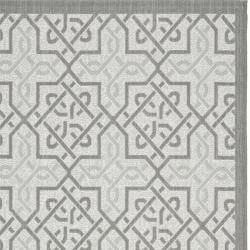 Light Grey/ Anthracite Indoor Outdoor Rug (8 x 112)