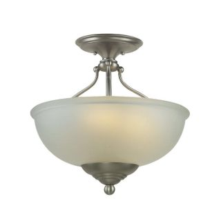 Royce 1 light Antique Nickel Flush Mount Fixture
