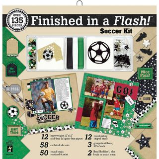 Finished In A Flash 131 piece Soccer Page Kit