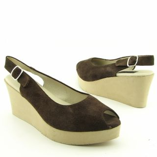 Steven Steve Madden Womens Avenues Brown Platform Wedges (Size 7