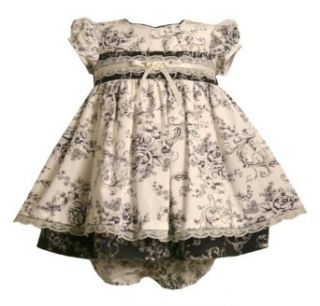 Bonnie Jean Baby/Infant Girls 3M 9M 2 Piece IVORY BLACK
