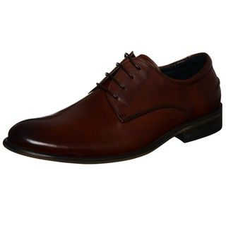 Steve Madden Mens Bryar Lace up Plain Toe Oxfords