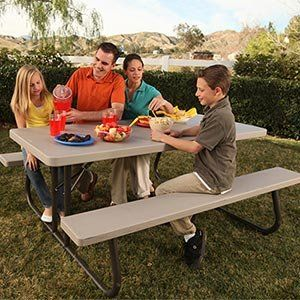 Lifetime 6 Folding Picnic Table Lightweight, Durable, and