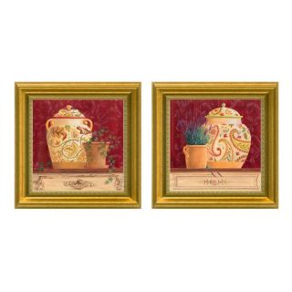 Gloria Eriksen Ginger Jar Still Life Framed 2 piece Art Set