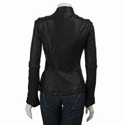 MICHAEL Michael Kors Womens Leather Motorcycle Jacket