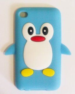 Apple iPod Touch 4th Generation Penguin Silicone Case  Sky