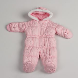 London Fog Newborn Girls Pink Faux fur Snow Suit FINAL SALE