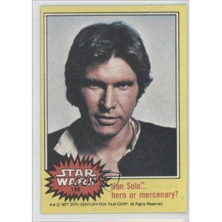 Han Solo (Trading Card) 1977 Star Wars #139