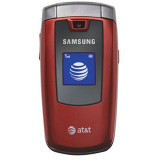 Samsung A437 Red Unlocked GSM Flip Cell Phone