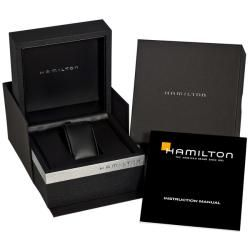Hamilton Mens Jazzmaster Black Leather Strap Watch