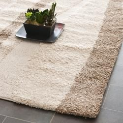 Ultimate Cream/ Dark Brown Shag Rug (86 x 12)