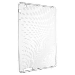 Clear Leopard TPU Rubber Skin Case for Apple iPad 3